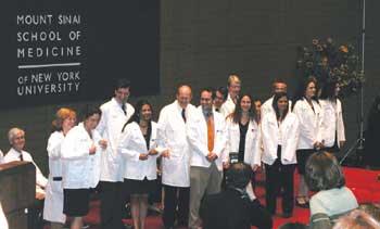Medical Update - White Coat Ceremony at Mount Sinai School