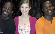 L-R: James A. Williams, Allie Gallerani and Stephen Tyrone Williams