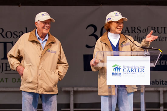 President Jimmy Carter and his wife, Rosalynn